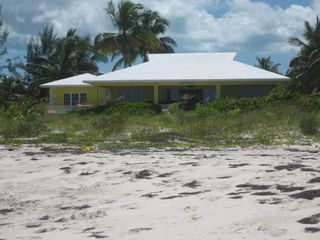 Sunnyside Beach Villa from the beach. 115 feet of private beach front. - Spanish Wells villa vacation rental photo