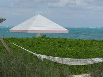 Beachside hammock in the island grasses
