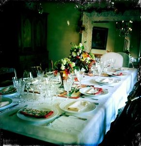 Large, festive Dining Room.
