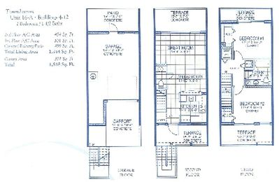 Tampa townhome rental - Floor plan of 2 bedroom 1.5 bath Town house