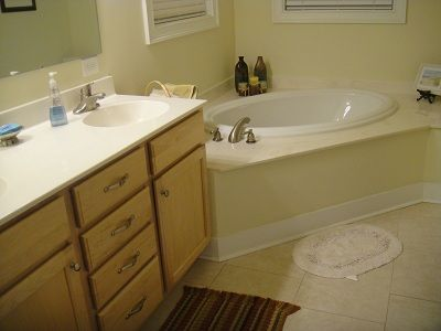The master bathroom which adjoins the master bedroom.