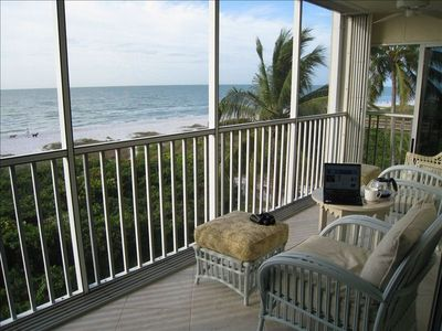 Sanibel Island condo rental - This view may be distracting while you use your free hi-speed wireless internet!