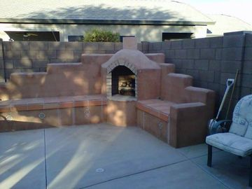 Maricopa house rental - ~Built-in outdoor fireplace to set the mood for those warm desert nights~