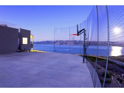 Basketball Hoop with a view