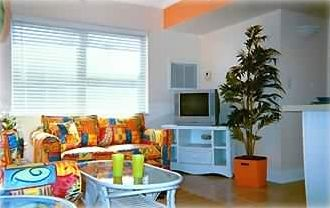 Madeira Beach condo rental - Bright great room with queen Sofa Sleeper.
