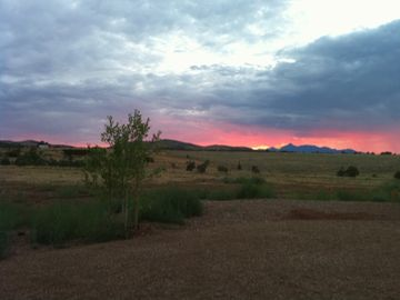 Sonoita house rental - Beautiful sunsets on the Canelo Hills