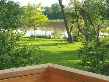 Wichita cabin rental - View from the upper deck.