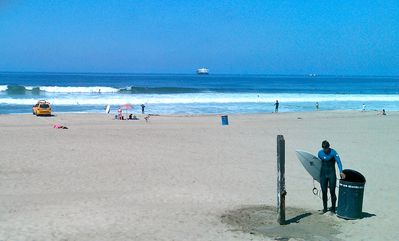 Hermosa has great surfing, volleyball, and boogie boarding!