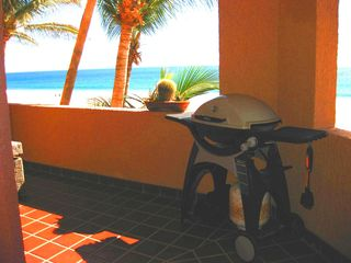 San Jose del Cabo condo photo - Weber gas grill on 600 sq ft wrapping patio