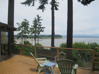 Camano Island house photo - Lower deck and view.