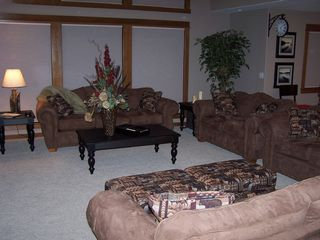 Sunriver house photo - The Great Room has several couches for lots of comfortable seating