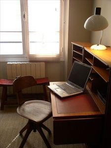 Writing Desk in Bedroom; Wi-Fi Internet Throughout the Apartment
