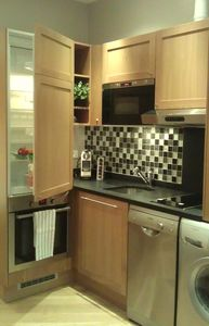 Kitchen- equipped with high end appliances