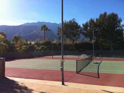 tennis with a gorgeous view