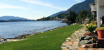 Ketchikan apartment rental - We are just steps from the ocean with a pathway to the beach.