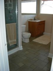 Kentucky Lake house photo - Upper level bath with newly tiled shower.