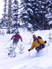 Hut skiing in back country out of Vail. - Frisco condo vacation rental photo