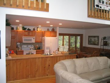Kitchen, Dining Area & Slider to Screened Porch