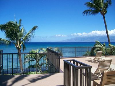 Whale watch &enjoy the views of Lanai & Molokai from the community deck