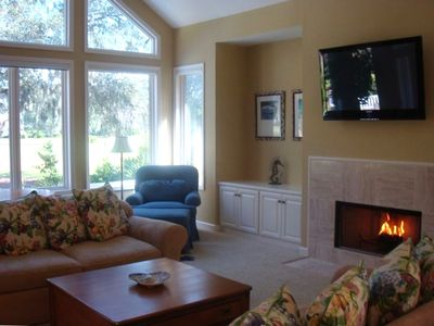 Living Room with view of 2nd hole of Fazio Golf Course
