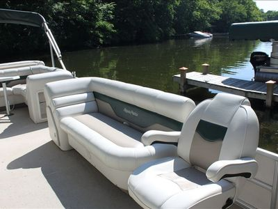 This pontoon is available to rent