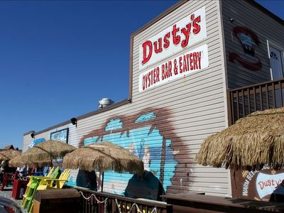 Walk across the street to Dusty's Oyster bar