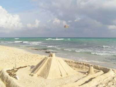 Build Sand Castles & Mayan Pyramids in the sugar soft white sandy beach