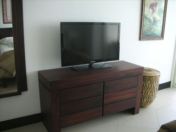 "Large Samsung 42"" flat screen TV on cable in Master Bedroom"