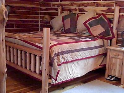 French Lick cabin rental - Loft Master Bedroom King Bed