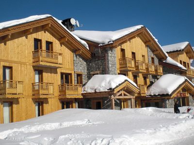 Luxury chalet-residence, built in Savoyard style, great located at 300m from the village centre of La Rosière.