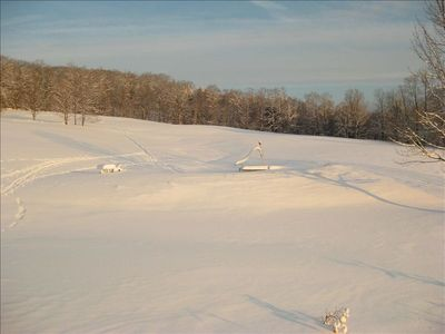 Upper Field w/Snow Shoe Tracks