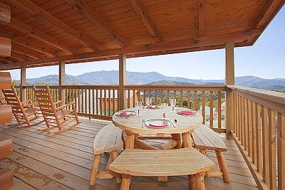 Spectacular views whether rocking or dining on our wrap-around deck