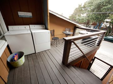 Private Back Porch (w/washer & dryer)
