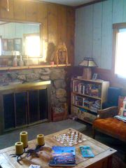 Black Hawk cabin photo - Living Room Fireplace.