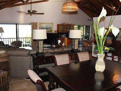 Marathon house rental - Living room and formal dining