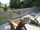 Relaxing on the main deck, enjoying the sea view - Wareham house vacation rental photo