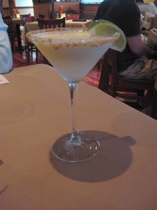 Key lime margarita at Bonefish Grill across the street