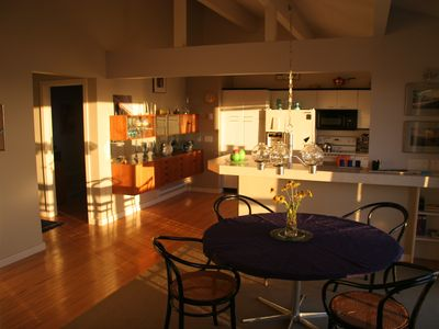 Dining area with the morning light.