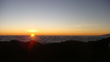 Sunrise from the top of Haleakala, ca. 45 min from home.