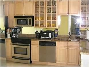 Brand new kitchen including granite counter tops