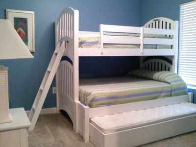2nd Bedroom, Full Bunk bed with twin trundle (sleeps 4); TV and DVD player