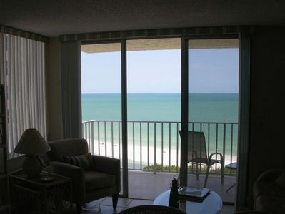 The sparkling waters of Gulf, taken from the living room.