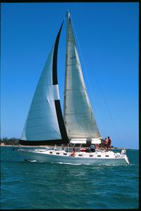 Wild Thing, 44 foot Morgan. Stay on board and enjoy a free sail to the reefs.