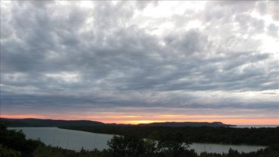 Cedar house rental - Spectacular sunsets from the deck
