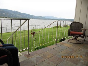 Sandpoint condo rental - condo #126 on lake pend o'reille southeast view from deck