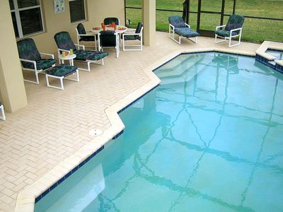Large Private Swimming Pool & Spa. Large Patio w/ Seating for 8 & Safety Gate.
