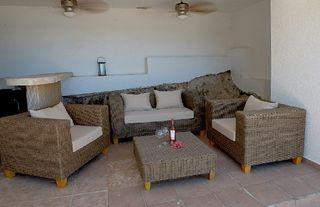 Curacao house photo - Outside sitting area with bar and BBQ