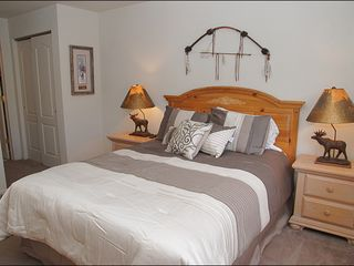 Steamboat Springs townhome photo - Master # 2 - Queen, New Bedding, Private Bathroom