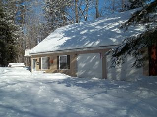 Moultonborough cottage photo - winter 2011 lake frozen and buried in snow / great conditions for sports