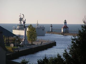 View from the bluff in Downtown St. Joseph